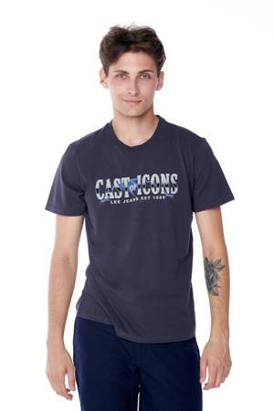 LEE CAST OF ICONS TEE WASHED NAVY L60AFEOO